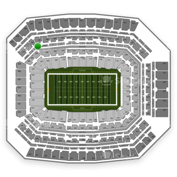Indianapolis Colts at Lucas Oil Stadium Section 307 View