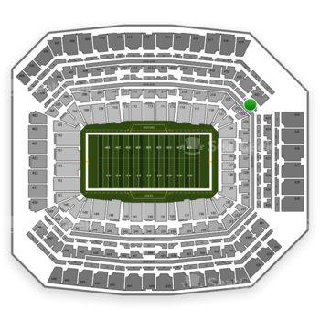 Indianapolis Colts at Lucas Oil Stadium Section 322 View