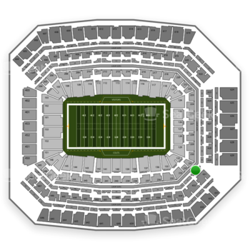 Indianapolis Colts at Lucas Oil Stadium Section 331 View