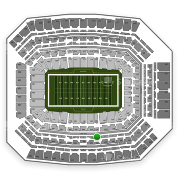 Indianapolis Colts at Lucas Oil Stadium Section 338 View
