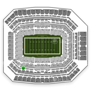 Indianapolis Colts at Lucas Oil Stadium Section 345 View
