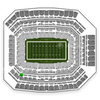Indianapolis Colts at Lucas Oil Stadium Section 346 View