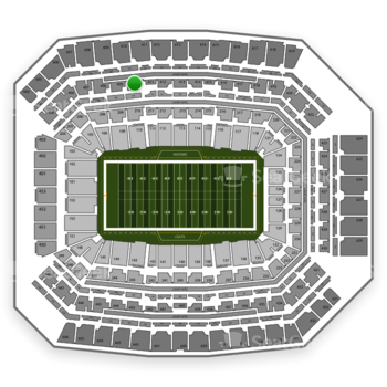 Indianapolis Colts at Lucas Oil Stadium Section 410 View