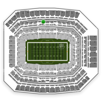 Indianapolis Colts at Lucas Oil Stadium Section 412 View