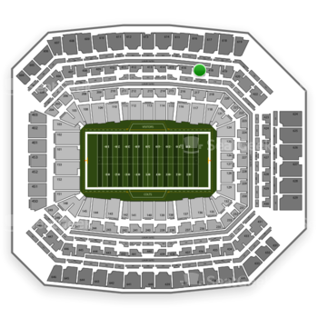 Indianapolis Colts at Lucas Oil Stadium Section 417 View