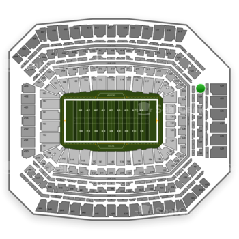Indianapolis Colts at Lucas Oil Stadium Section 423 View
