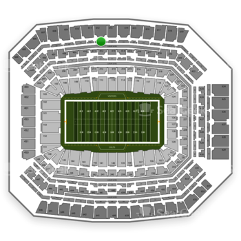 Indianapolis Colts at Lucas Oil Stadium Section 512 View