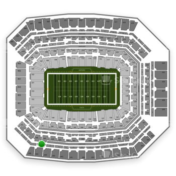 Indianapolis Colts at Lucas Oil Stadium Section 545 View