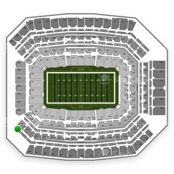 Indianapolis Colts at Lucas Oil Stadium Section 549 View