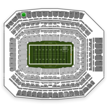 Indianapolis Colts at Lucas Oil Stadium Section 608 View