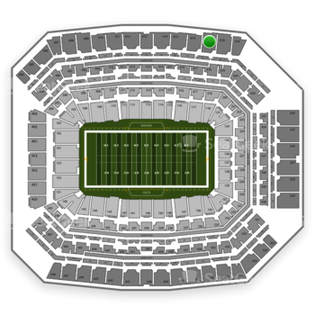 Indianapolis Colts at Lucas Oil Stadium Section 617 View