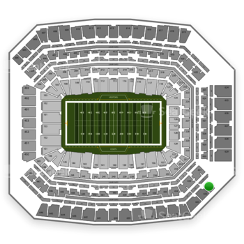 Indianapolis Colts at Lucas Oil Stadium Section 631 View