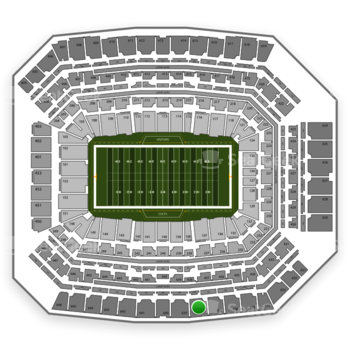 Indianapolis Colts at Lucas Oil Stadium Section 638 View