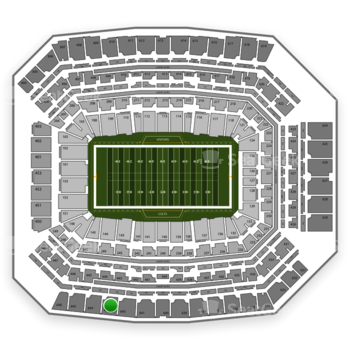 Indianapolis Colts at Lucas Oil Stadium Section 643 View