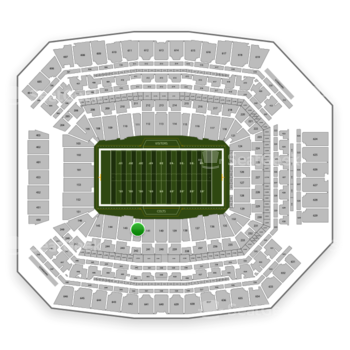 Indianapolis Colts at Lucas Oil Stadium Section 142 View