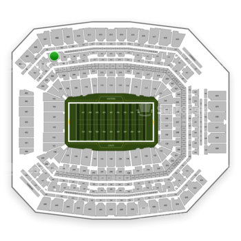 Indianapolis Colts at Lucas Oil Stadium Section 407 View