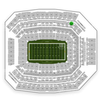 Indianapolis Colts at Lucas Oil Stadium Section 419 View