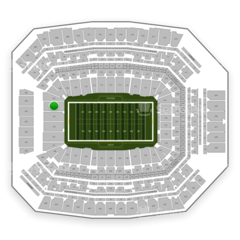 Indianapolis Colts at Lucas Oil Stadium Section 102 View