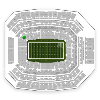 Indianapolis Colts at Lucas Oil Stadium Section 105 View