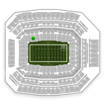 Indianapolis Colts at Lucas Oil Stadium Section 109 View