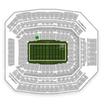 Indianapolis Colts at Lucas Oil Stadium Section 110 View