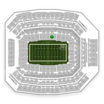 Indianapolis Colts at Lucas Oil Stadium Section 114 View