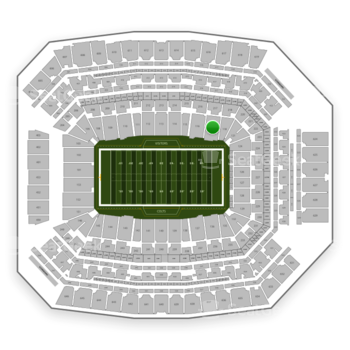 Indianapolis Colts at Lucas Oil Stadium Section 117 View