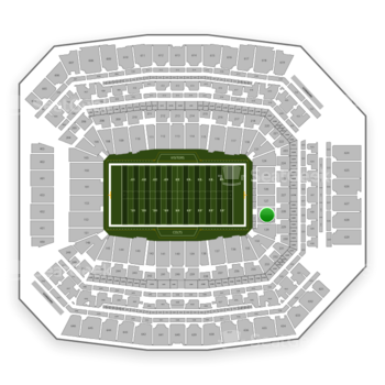 Indianapolis Colts at Lucas Oil Stadium Section 128 View