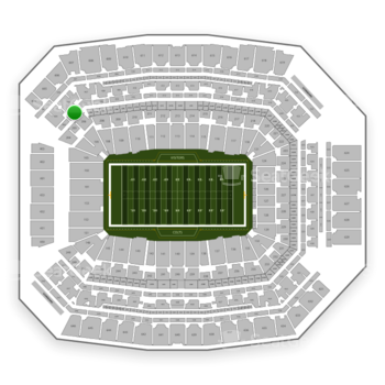 Indianapolis Colts at Lucas Oil Stadium Section 306 View