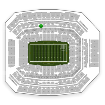 Indianapolis Colts at Lucas Oil Stadium Section 311 View