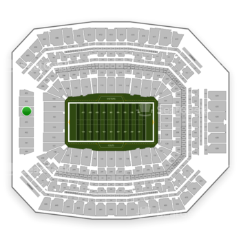 Indianapolis Colts at Lucas Oil Stadium Section 401 View