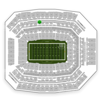Indianapolis Colts at Lucas Oil Stadium Section 411 View