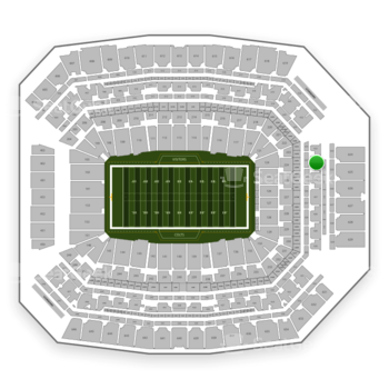 Indianapolis Colts at Lucas Oil Stadium Section 424 View