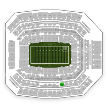 Indianapolis Colts at Lucas Oil Stadium Section 437 View