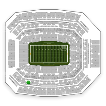 Indianapolis Colts at Lucas Oil Stadium Section 445 View