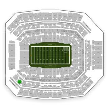 Indianapolis Colts at Lucas Oil Stadium Section 447 View
