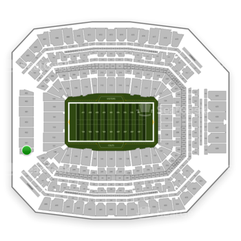 Indianapolis Colts at Lucas Oil Stadium Section 450 View