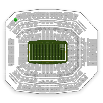 Indianapolis Colts at Lucas Oil Stadium Section 606 View