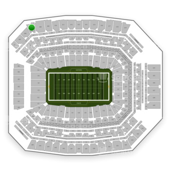 Indianapolis Colts at Lucas Oil Stadium Section 607 View