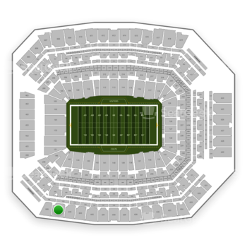 Indianapolis Colts at Lucas Oil Stadium Section 645 View