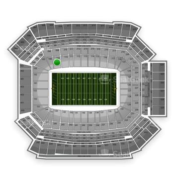 NFL at Lucas Oil Stadium Section 109 View