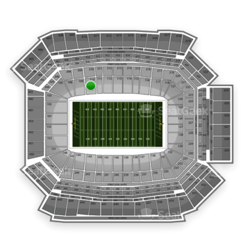 NFL at Lucas Oil Stadium Section 110 View