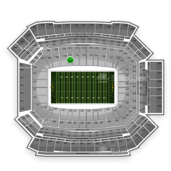 NFL at Lucas Oil Stadium Section 111 View