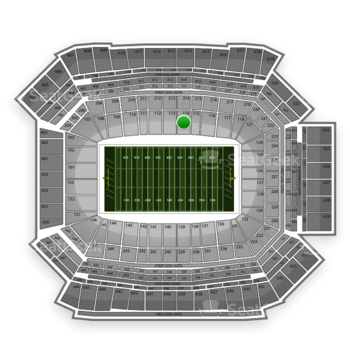 NFL at Lucas Oil Stadium Section 114 View