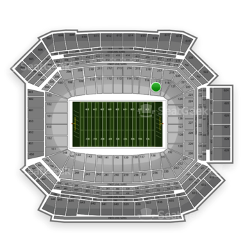NFL at Lucas Oil Stadium Section 117 View