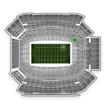 NFL at Lucas Oil Stadium Section 121 View
