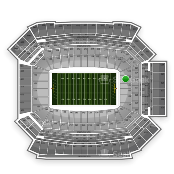 NFL at Lucas Oil Stadium Section 125 View