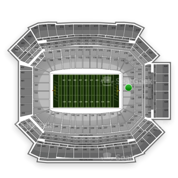 NFL at Lucas Oil Stadium Section 126 View