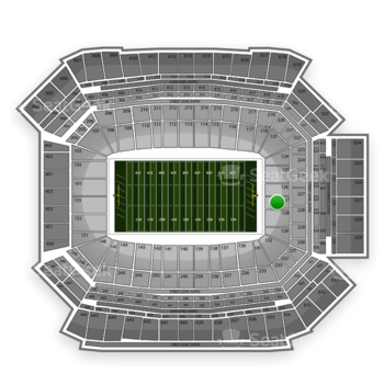 NFL at Lucas Oil Stadium Section 127 View