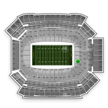 NFL at Lucas Oil Stadium Section 128 View
